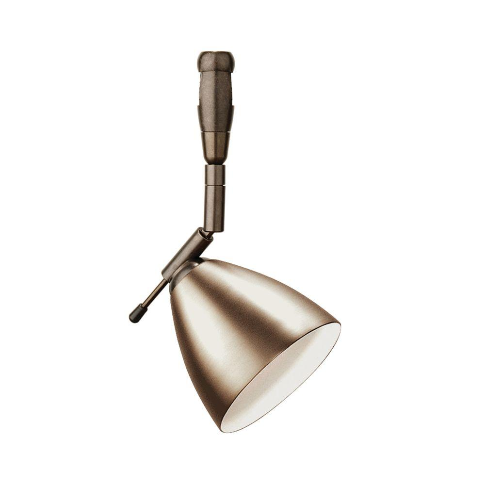 LBL Lighting Orbit Swivel I 1-Light Bronze LED Track Lighting Head Orbit Swivel I 1-Light Bronze LED Track Lighting Head easily blends with your home's existing decor. This is a low voltage head. This bronze finished steel fixture combines style and function.