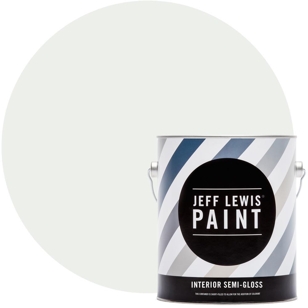 Jeff Lewis 1 gal. #612 Cotton Semi-Gloss Interior Paint