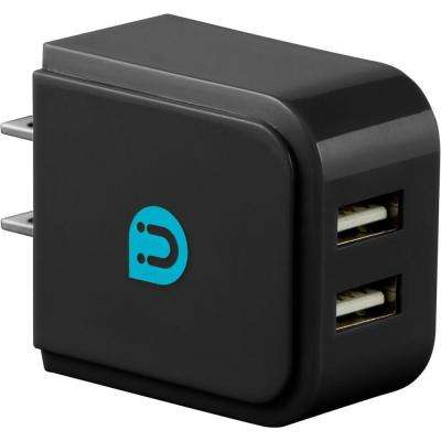 2.0 - 2.4 Amp AC USB Adapter, Black