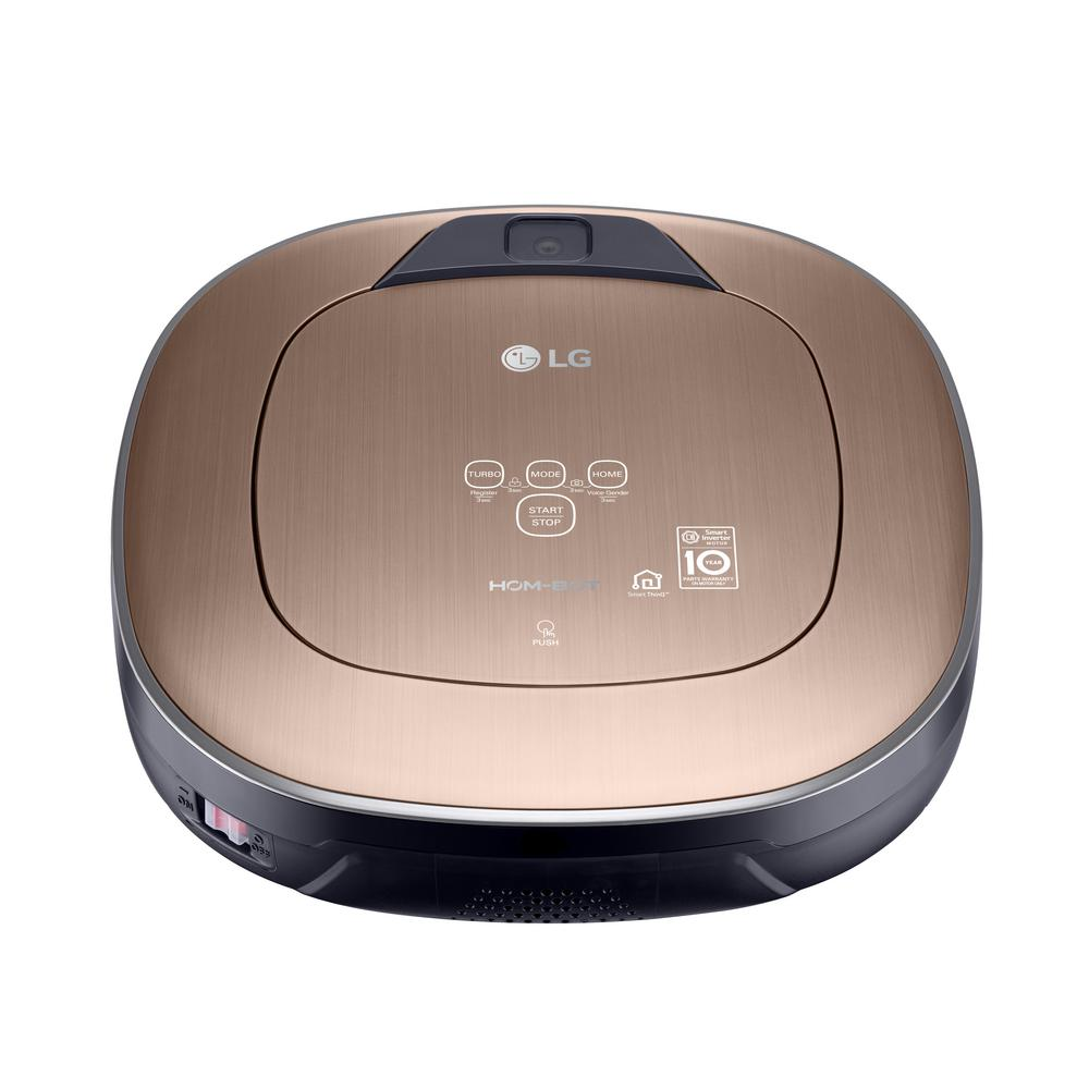 Smart Robot Vacuum Cleaner Wifi Enabled Stone Tile Hardwood Mop Hom Bot Gold Ebay