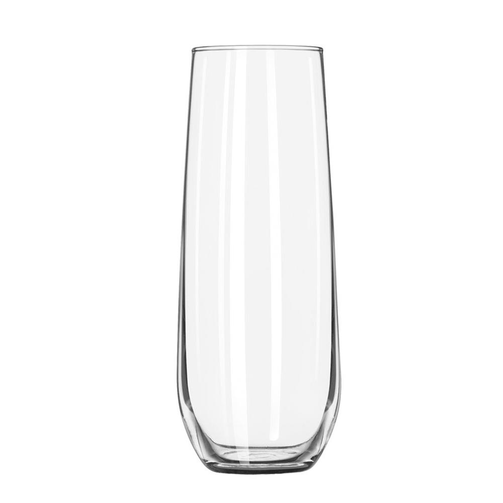 Libbey 8.5 oz. Vina Stemless Flute Glass in Clear (Set of 12)