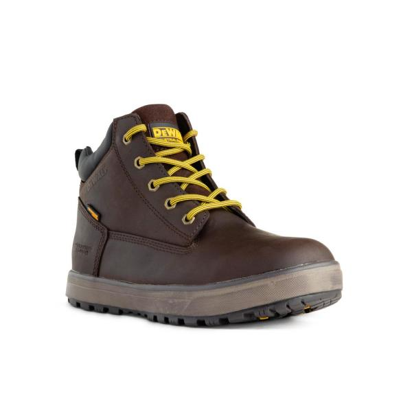 Dewalt Men S Helix Wp Waterproof 6 In Work Boots Steel Toe Brown Size 11 5 W Dxwp84364w Bch 11 5 The Home Depot