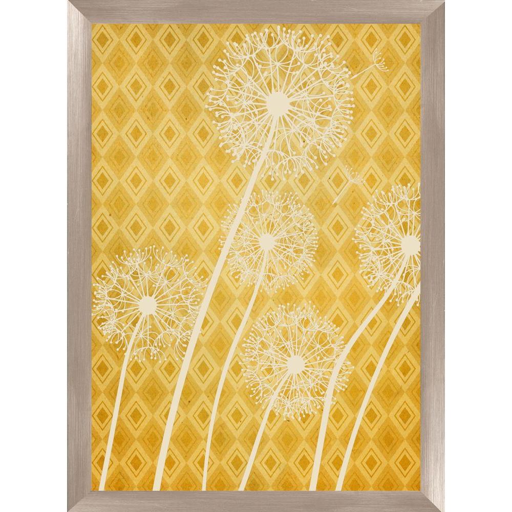 """30-1/2 in. x 22-1/2 in. """"Dandelion I A"""" Framed Wall Art"""