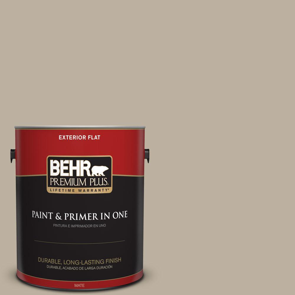 Behr Premium Plus 1 Gal 750d 4 Pebble Stone Flat Exterior Paint And