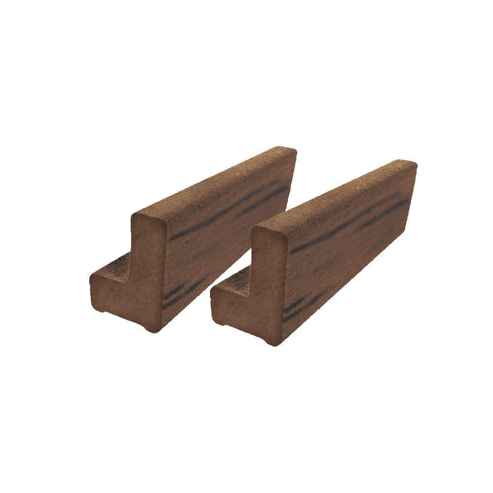 Vantage 6 ft. Walnut Solid Composite Universal Base Rail or Hand Rail (2-Pack)
