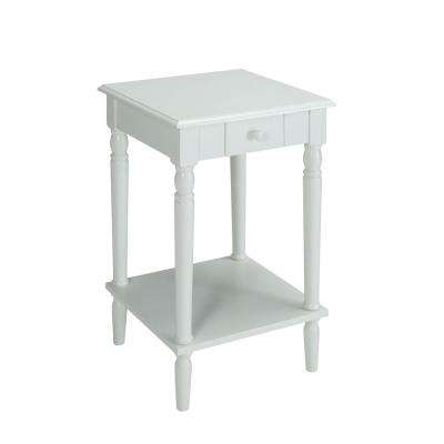 French Country White End Table