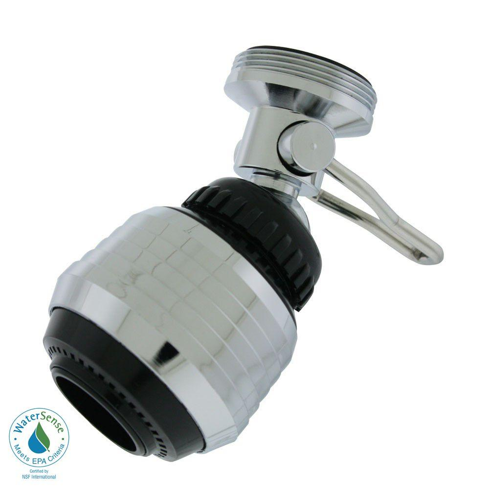 Faucet Aerator With On Off Switch. Bubble Stream 1 5 GPM Dual Thread On Off Water Saving Swivel Spray