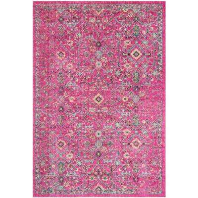 Artisan Fuchsia/Anthracite 4 ft. x 6 ft. Area Rug