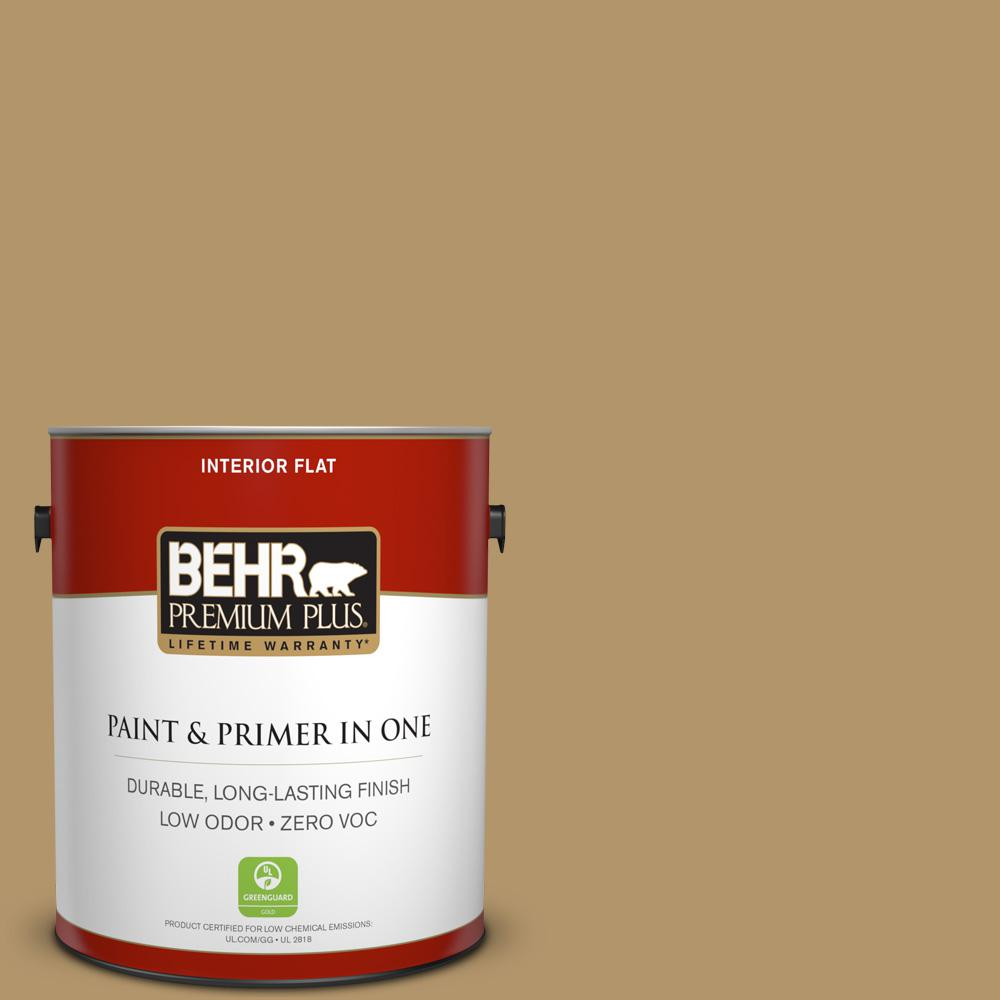 BEHR Premium Plus 1-gal. #BNC-15 Tapestry Gold Flat Interior Paint