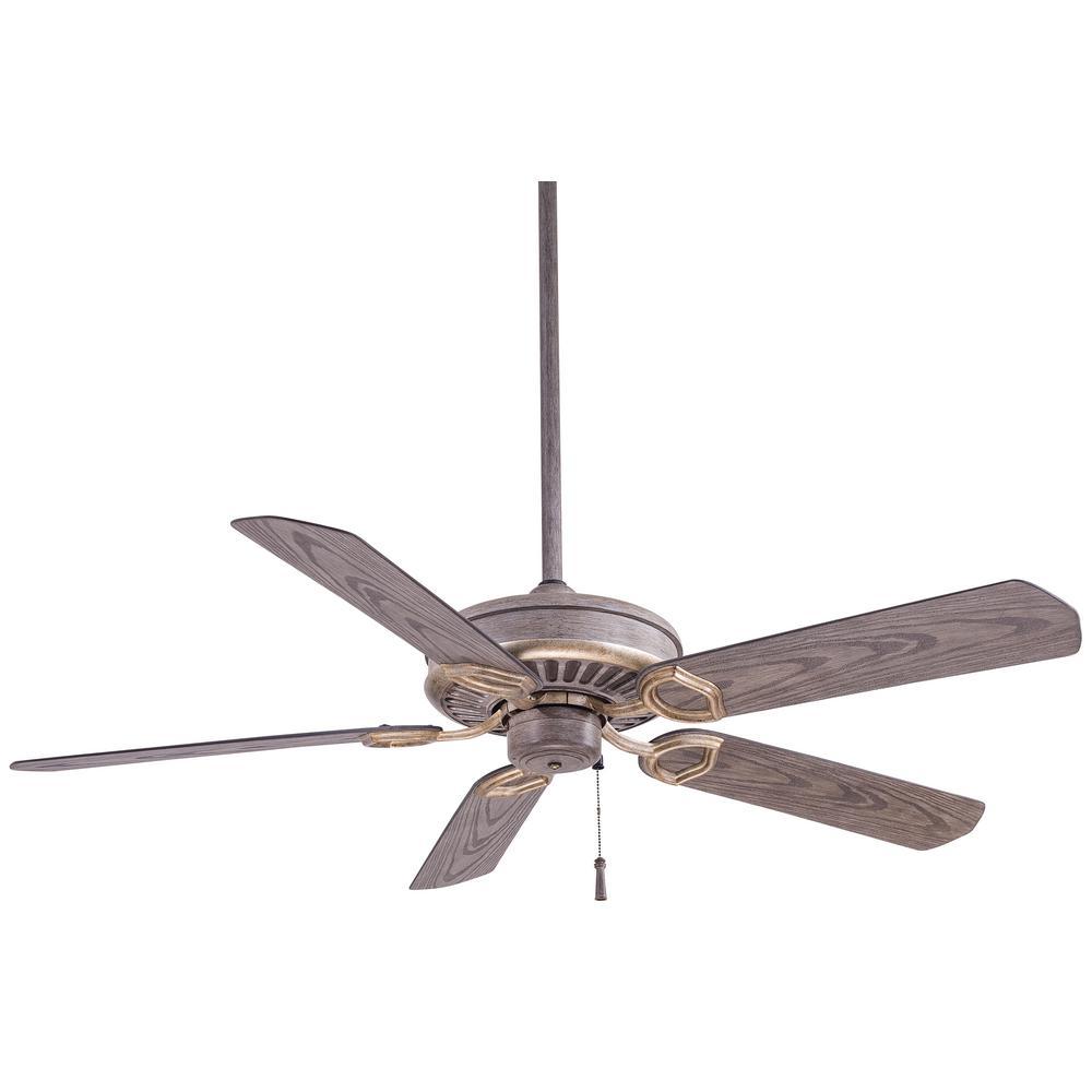 Minka-Aire Sundowner 54 in. Indoor/Outdoor Driftwood Ceiling Fan