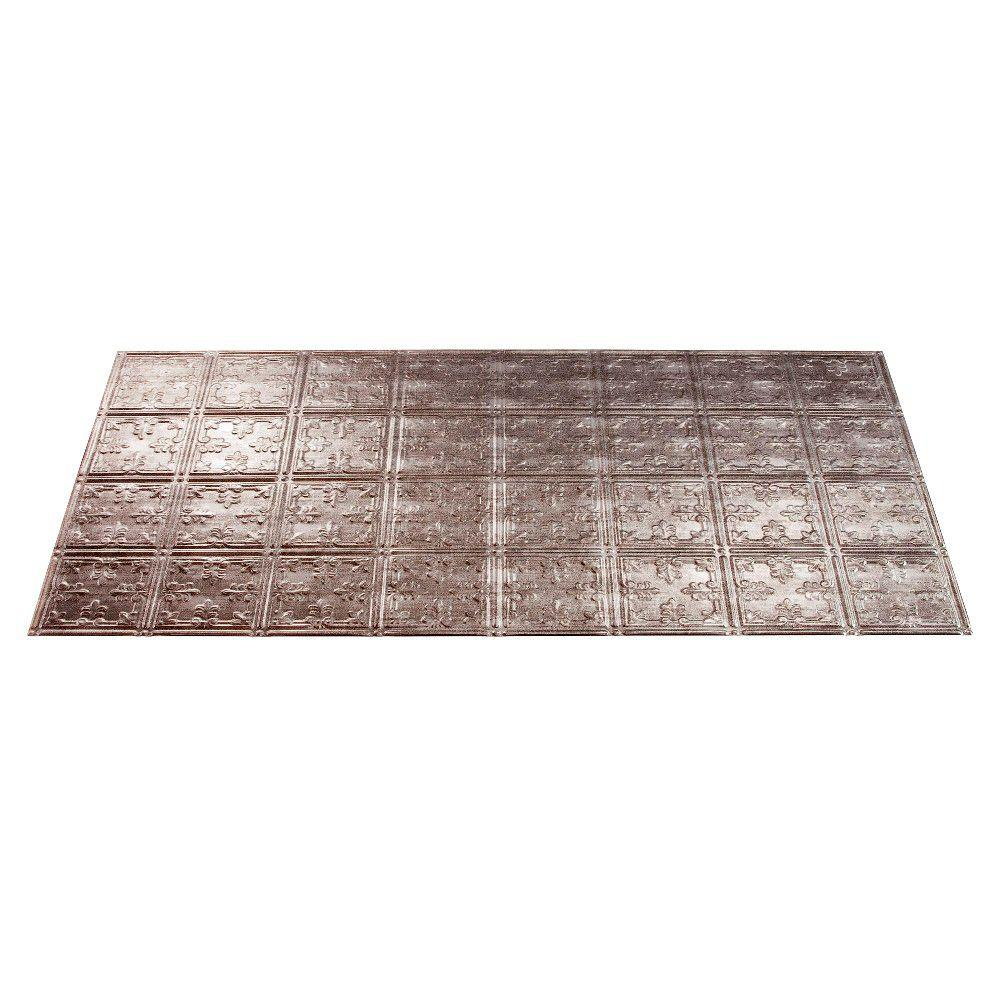 Fasade Traditional 10 2 ft. x 4 ft. Cross Hatch Silver Lay-in Ceiling Tile