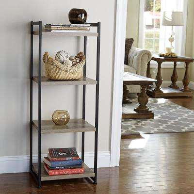 Ashwood 4-Shelf Storage Tower in Light Wood