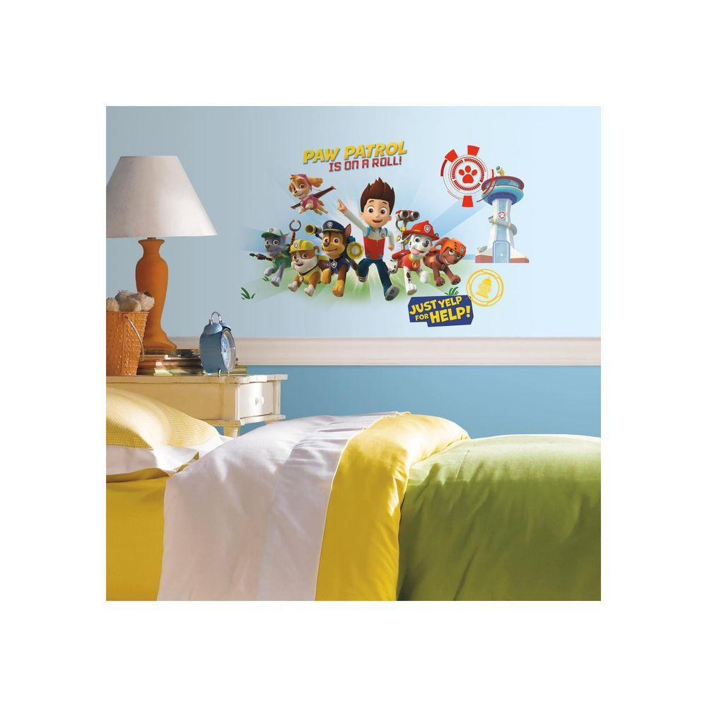 RoomMates 5 in. x 19 in. Paw Patrol Wall Graphix 6-Piece ...