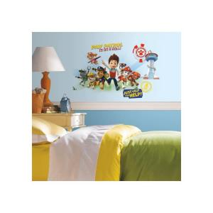 Roommates 5 In X 19 In Paw Patrol Wall Graphix 6 Piece Peel And Stick Giant Wall Decal Rmk2641gm The Home Depot