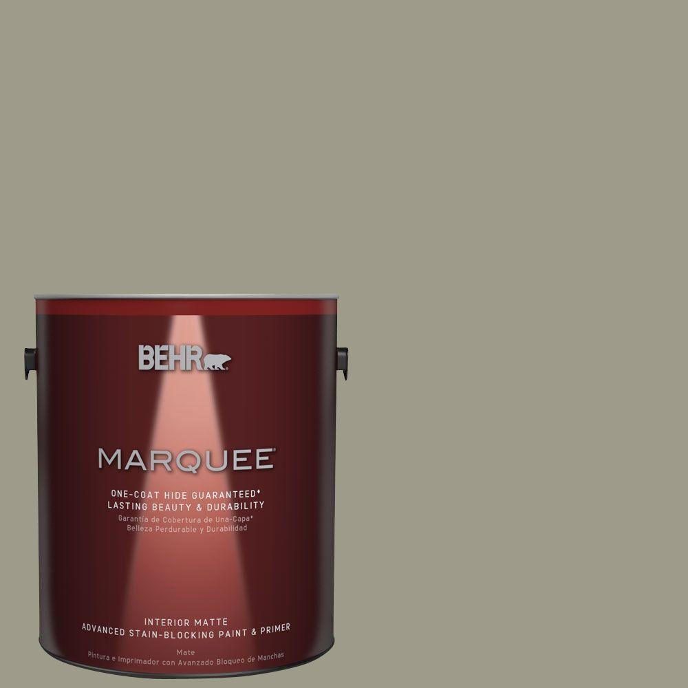 1 gal. #MQ6-26 Milk Thistle One-Coat Hide Matte Interior Paint