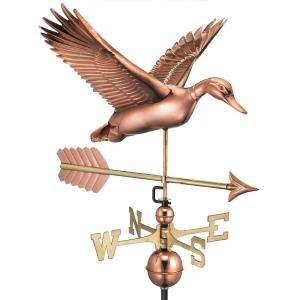 Good Directions Flying Duck with Arrow Weathervane-Pure Copper by Good Directions