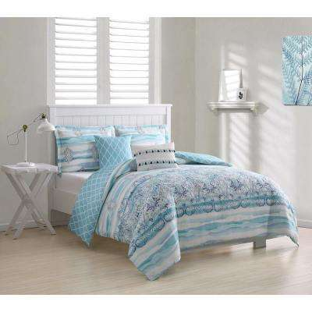 Cascade Damask 5-Piece Queen Comforter Set