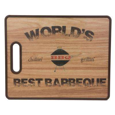 Tropical Collection Barbeque  Plastic Cutting Board