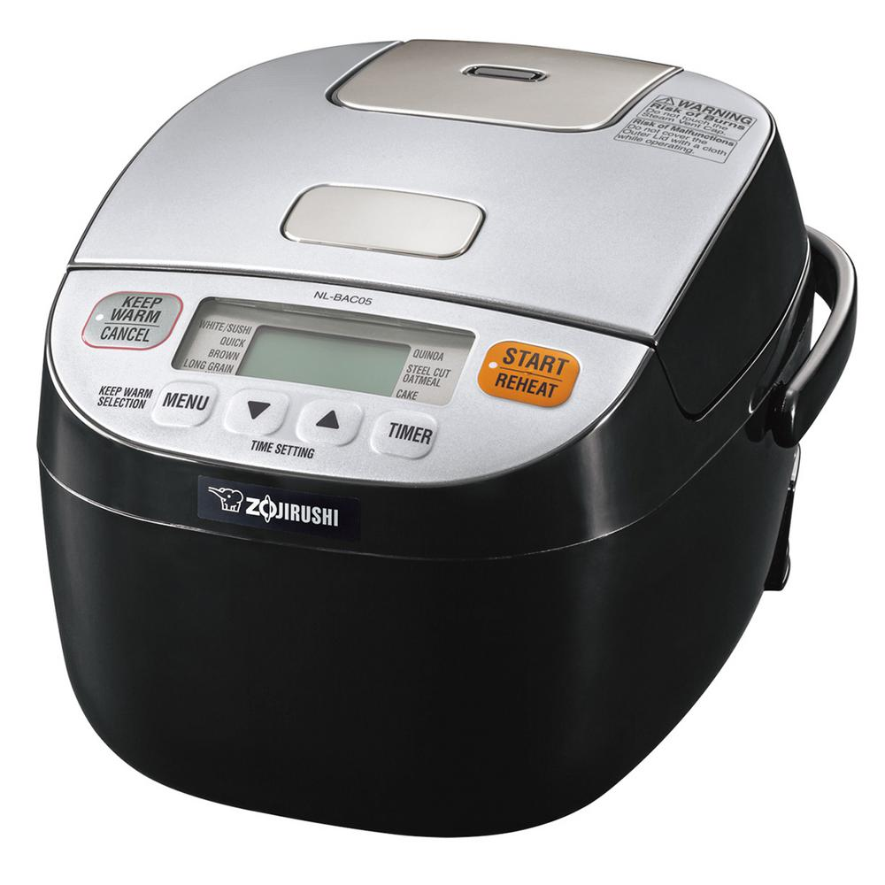 Micom Rice Quinoa Steel Cut Oatmeal Cooker & Warmer, Silv...