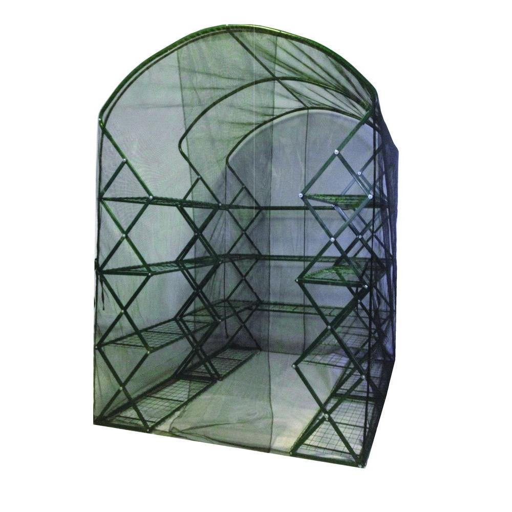 FlowerHouse 6 ft. 5 in. H x 4 ft. 5 in. W x 2 ft. 5 in. D Harvest House Plus Bug/Bird Cover