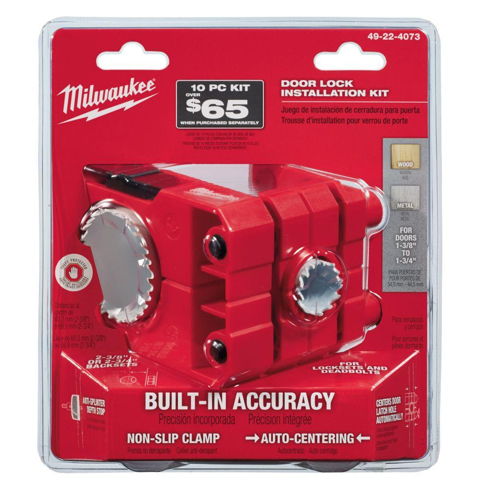 Milwaukee Door Lock Installation Bi-Metal Hole Saw Set