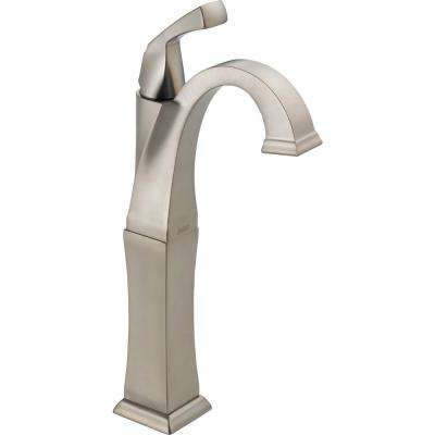 Dryden Single Hole Single-Handle Vessel Bathroom Faucet in SpotShield Stainless