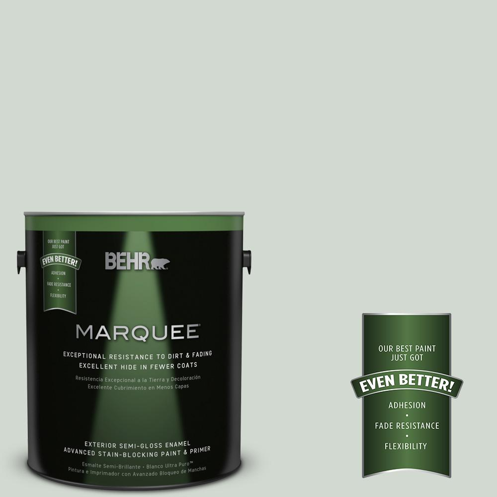 BEHR MARQUEE Home Decorators Collection 1-gal. #HDC-CT-23 Wind Fresh White Semi-Gloss Enamel Exterior Paint