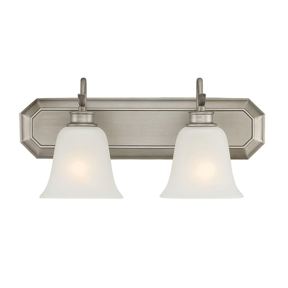 Montego 2-Light Matte Pewter Interior Incandescent Bath Vanity Light