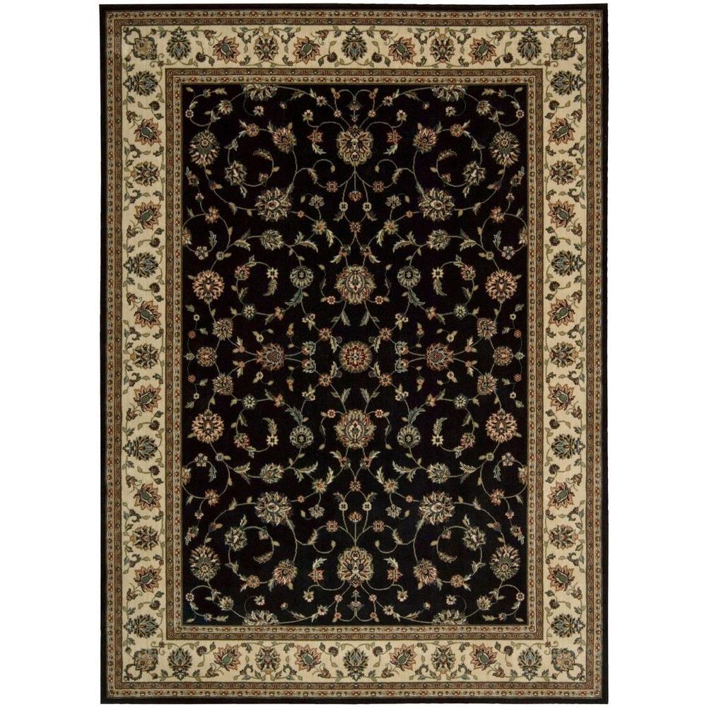 Nourison Persian Arts Black 9 ft. 6 in. x 13 ft. Area Rug