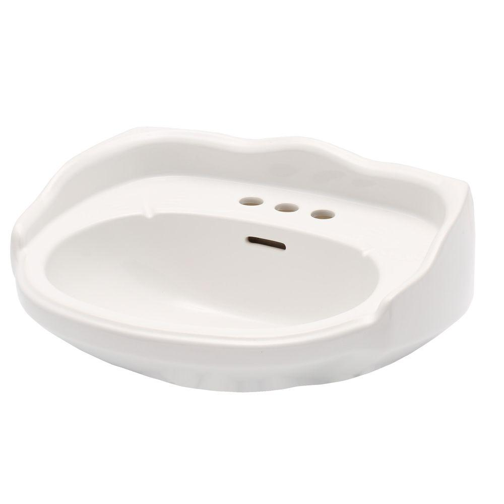 Elizabethan Classics English Turn 23 5/8 In. Petite Pedestal Sink Basin Only