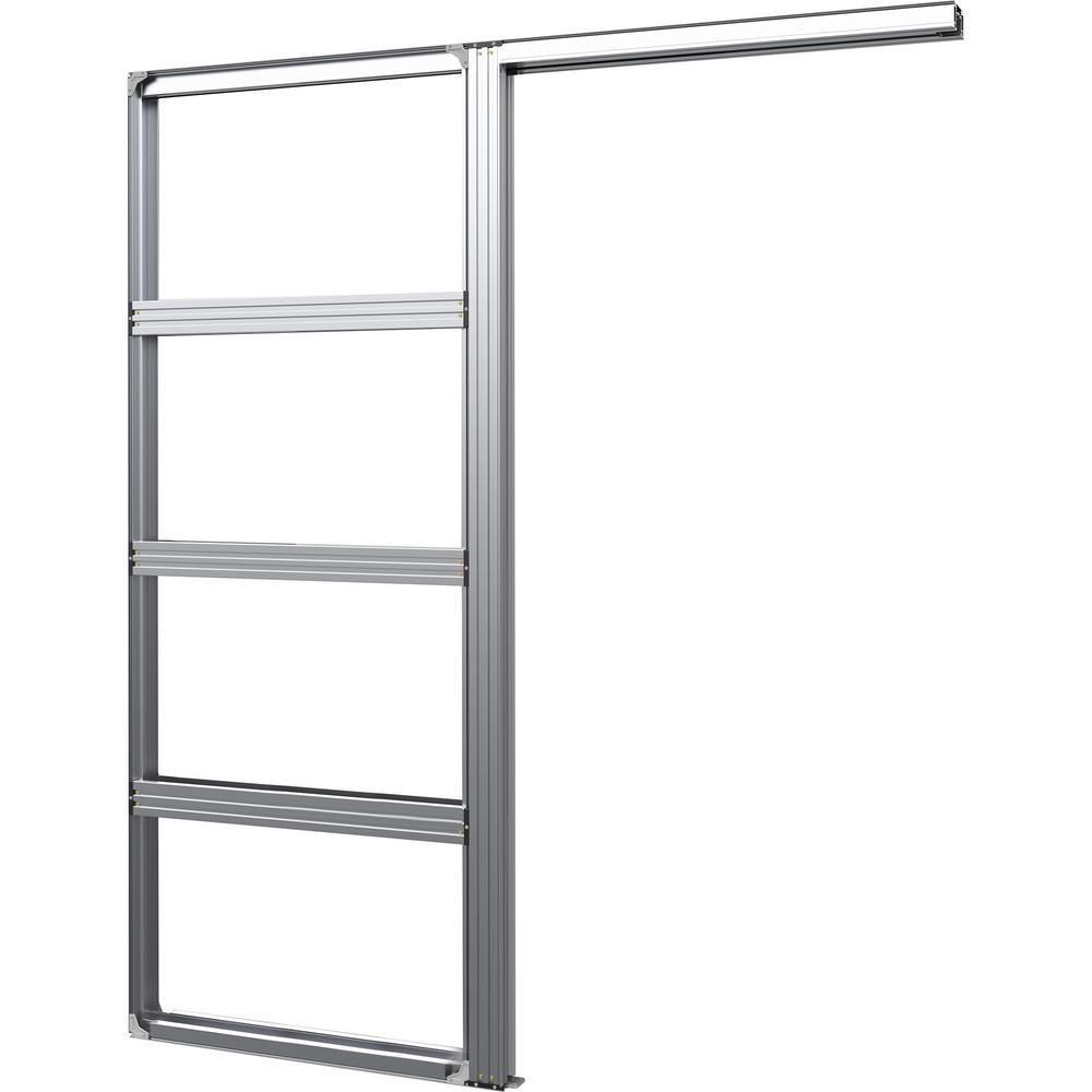 Cavity Slider 30 in. x 80 in. Aluminum Pocket Door Frame