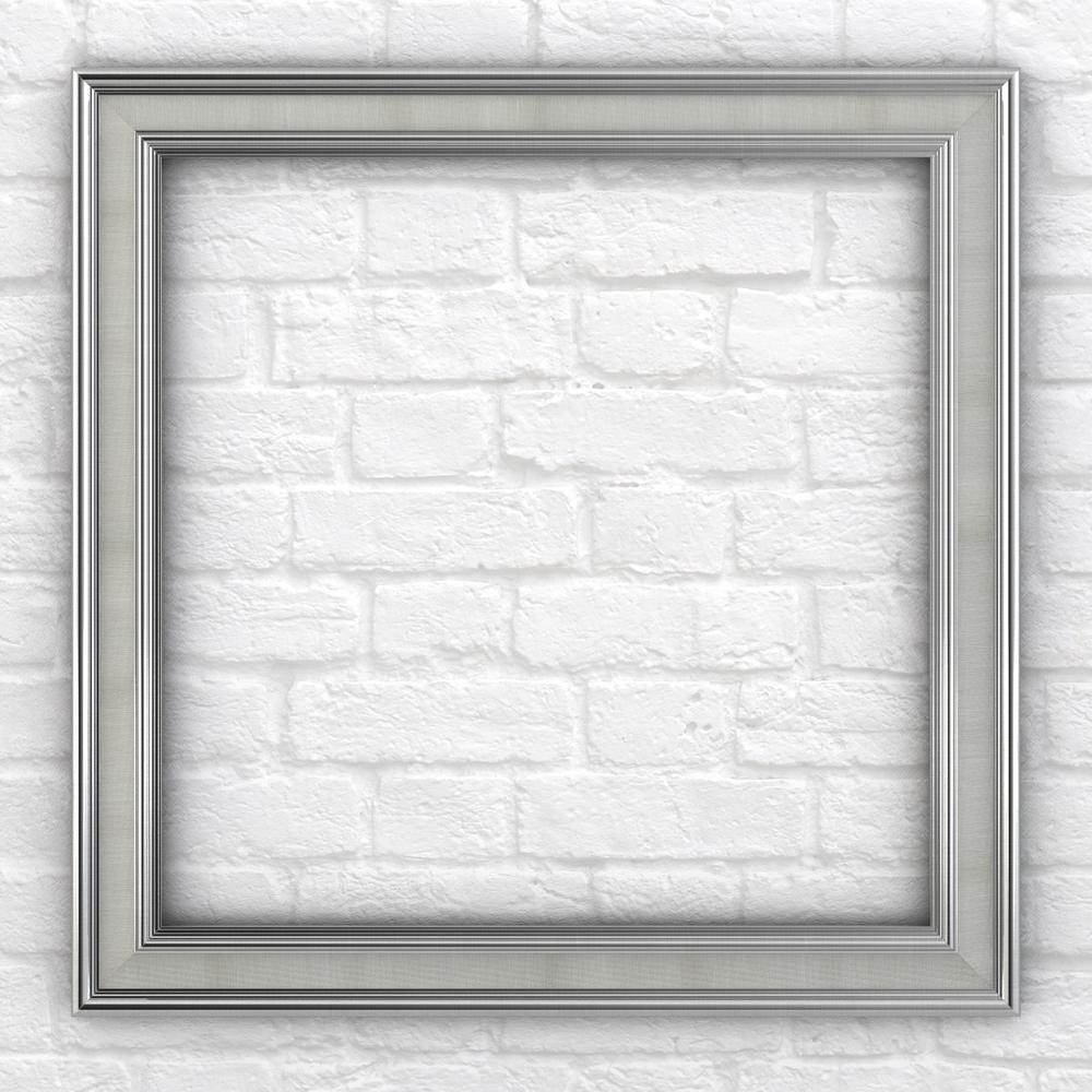 33 in. x 33 in. L2 Square Mirror Frame in Classic Chrome