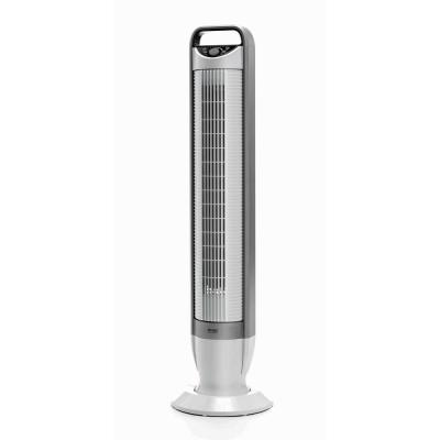 White UltraSlimline 40 in 3-Speed Oscillating Tower Fan with Tilt Feature