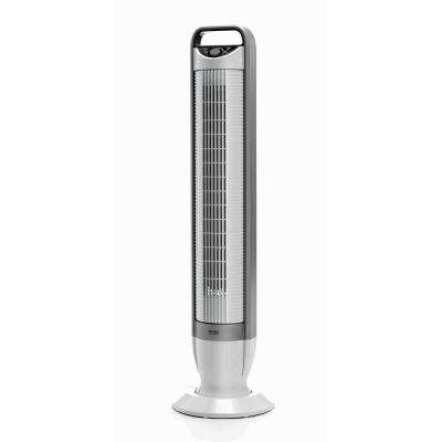 UltraSlimline 40 in. Oscillating 3-Speed Tower Fan with Tilt Feature in White