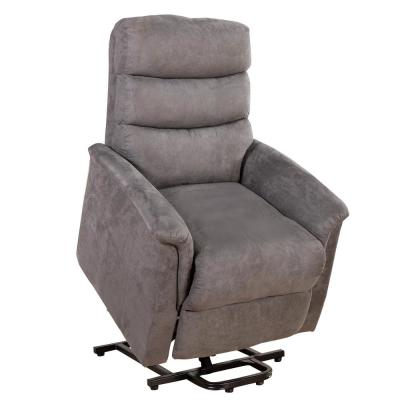 Grey Power Lift Chair Heat with Massage for Elderly Heavy Duty and 3-Position Electric Recliner