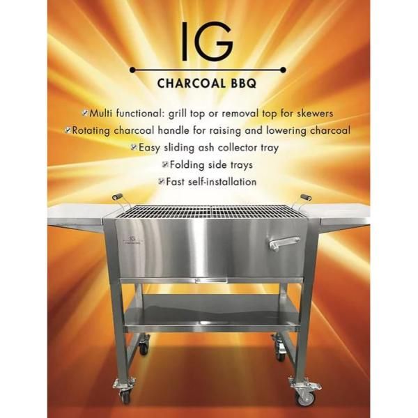 Ig Charcoal Bbq Stainless Steel Charcoal Grill In Grey Ig693247 The Home Depot The ig charcoal bbq grill provides just that. usd