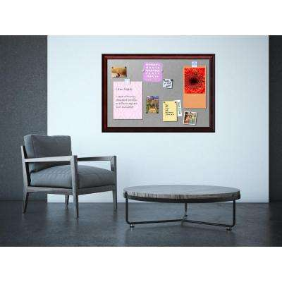 Rubino Cherry Scoop Wood 39 in. W x 27 in. H Framed Magnetic Board