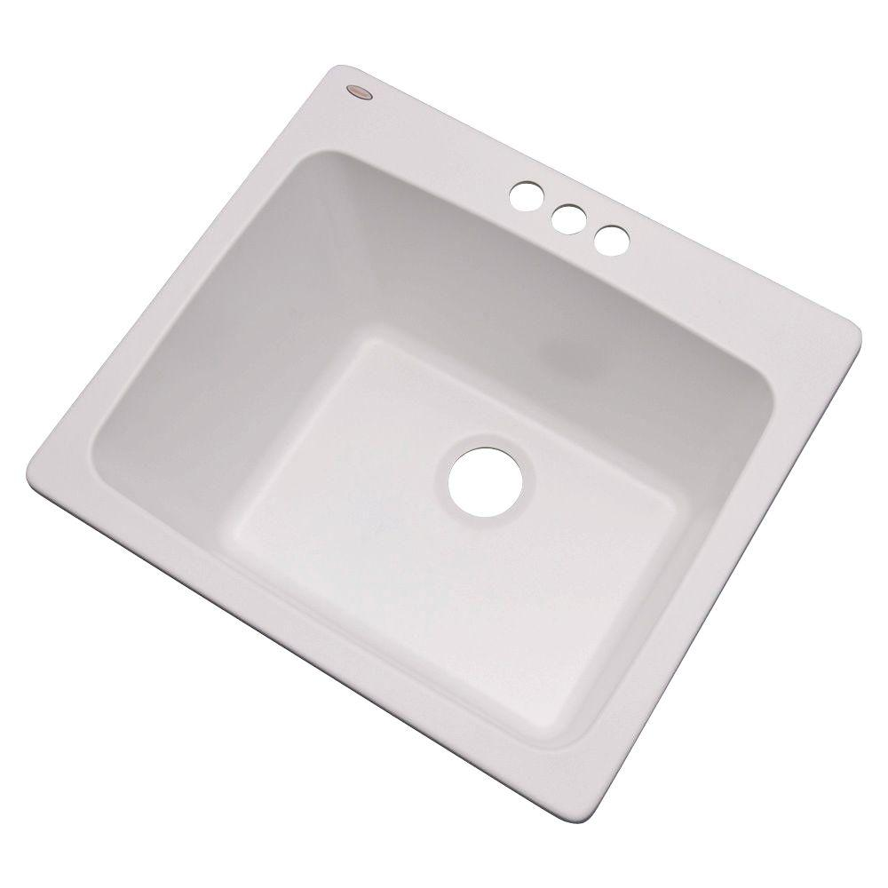Drop In Laundry Room Sink.Details About Laundry Room Utility Sink Single Bowl Drop In White 3 Hole Faucet Wash Basin New