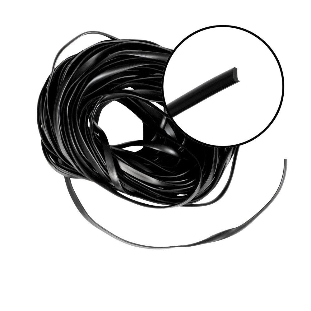 Phifer 0.3125 in. x 100 ft. Black Flat Spline