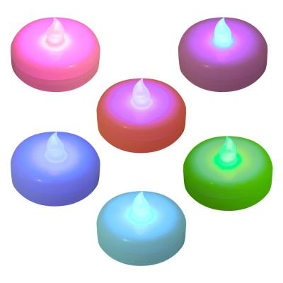 Battery Operated Floating LED Candles - Color Changing (6-Count)