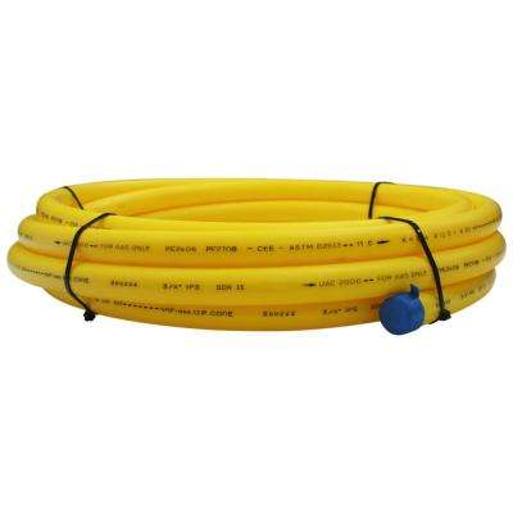 Underground 3/4 in. x 25 ft. IPS Yellow Polyethylene Gas Pipe