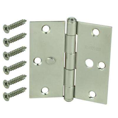 3-1/2 in. Stainless Steel Square Corner Security Door Hinge