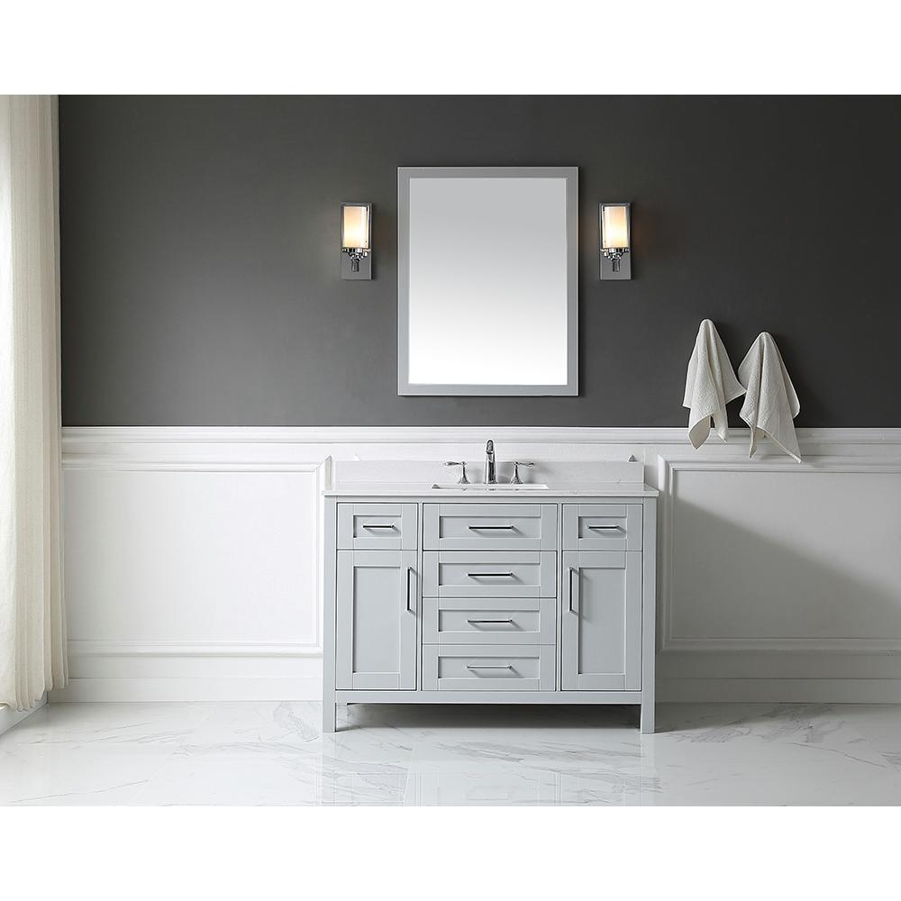 OVE Decors OVE Tahoe 48 in W x 21 in D Vanity in Dove Grey with