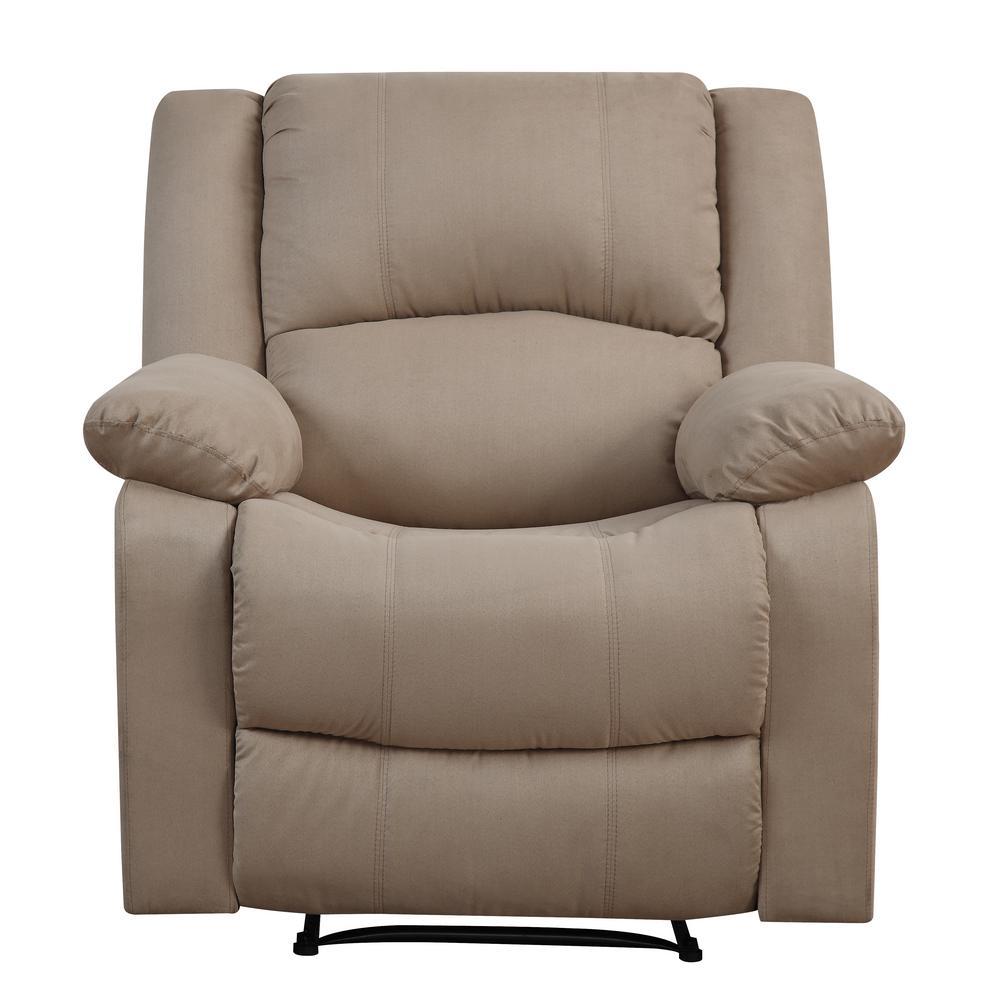 Preston Microfiber Recliner Chair in Beige