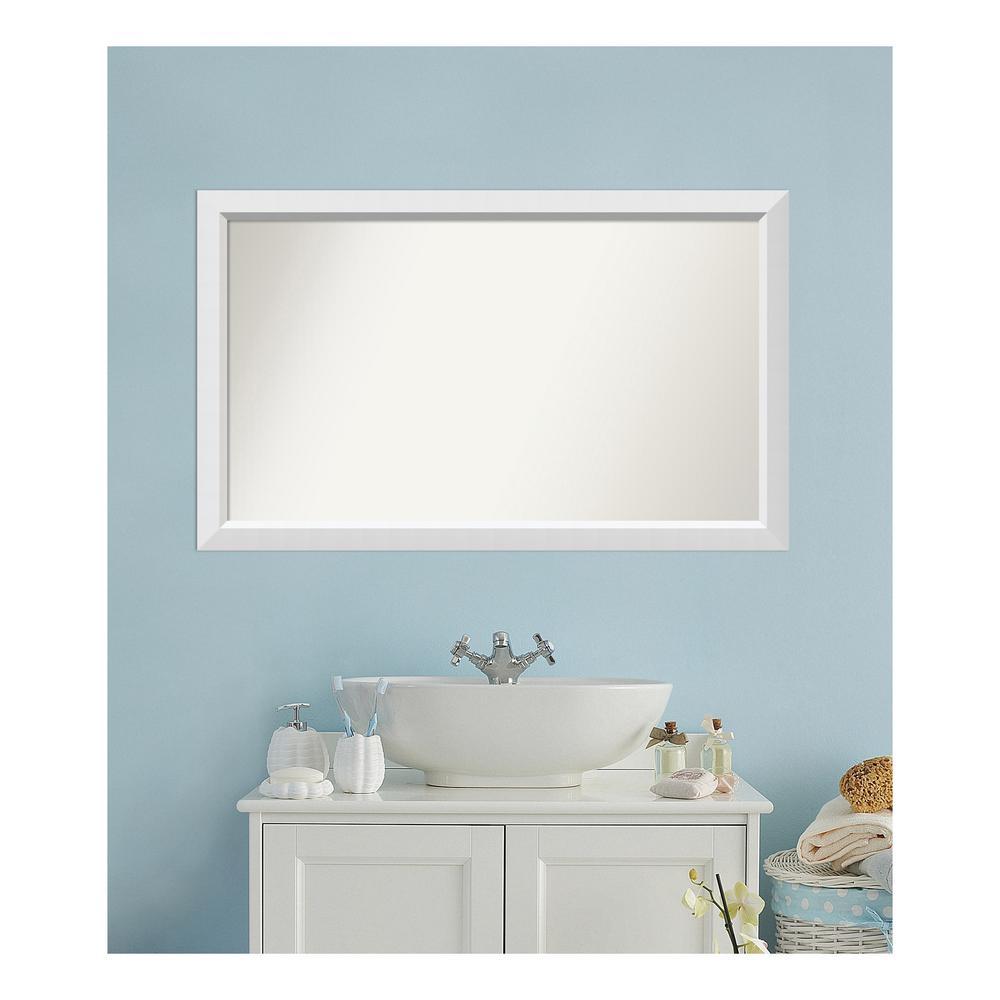 Amanti Art 28 in. x 46 in. Blanco White Wood Framed