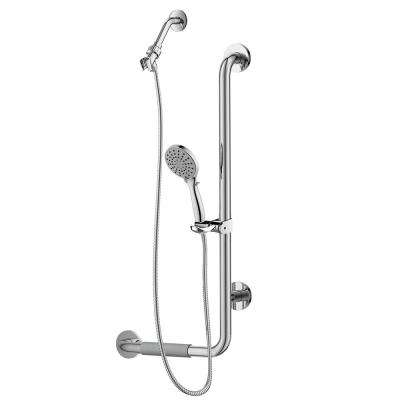 ErgoSlideBar Right 5-Spray Wall Bar Shower Kit in Oil Rubbed Bronze