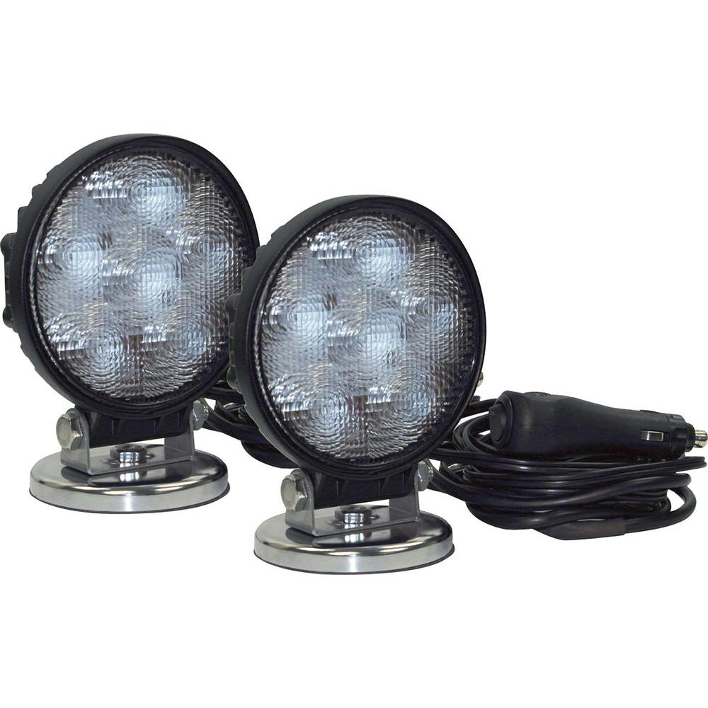 6-Clear LED Round Flood Light (2-Pack)
