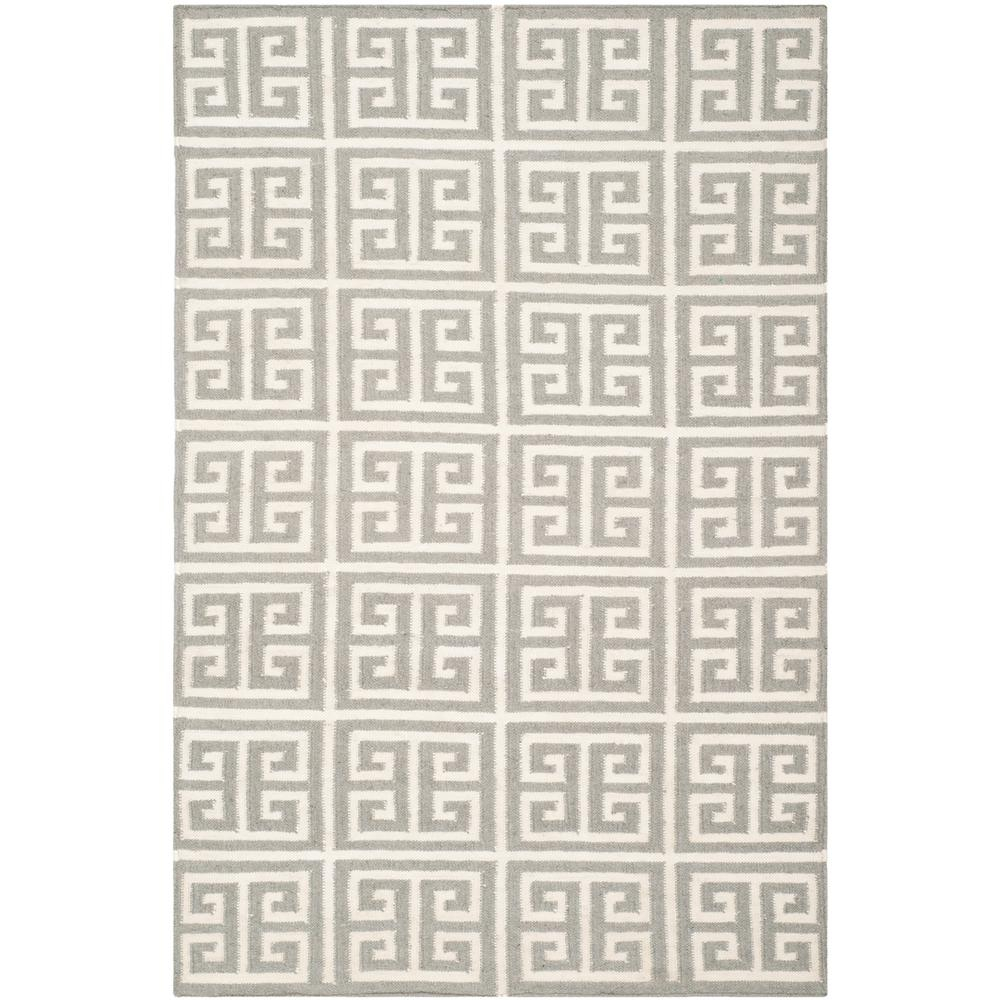 Dhurries Gray/Ivory 4 ft. x 6 ft. Area Rug