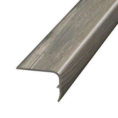 Henlopen Grey Oak 1.32 in. Thick x 1.88 in. Wide x 78.7 in. Length Vinyl Stair Nose Molding