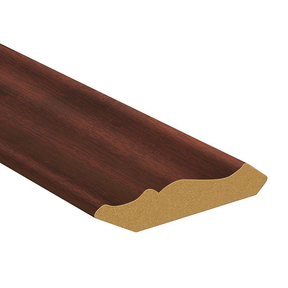TopTile 94.5 in. x 2.5 in. Deep Rosewood Woodgrain Crown Molding